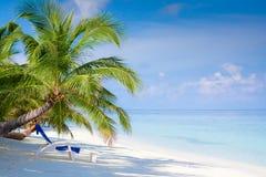 Strand op tropisch eiland Stock Foto's