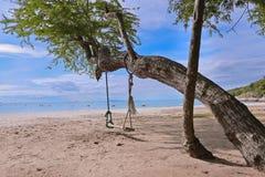 Strand op zonneschijndag Royalty-vrije Stock Afbeeldingen