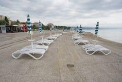 Strand in Opatija, Kroatië Stock Fotografie