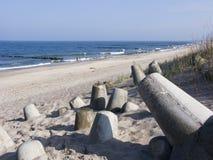 Strand, overzees en duinen Royalty-vrije Stock Foto's