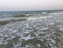 Strand overzeese golven Stock Afbeelding