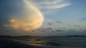 Strand, Ozean-Landschaftsansicht lizenzfreie stockbilder
