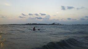 Strand, Ozean-Landschaftsansicht lizenzfreie stockfotos
