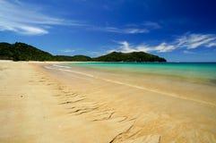 Strand på Abel Tasman National Park i Nya Zeeland Royaltyfri Bild