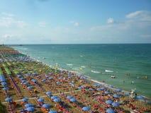 Strand på Adriatiska havet Arkivbilder
