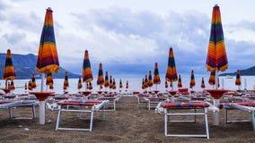 Strand på Adriatiskt havet arkivbilder