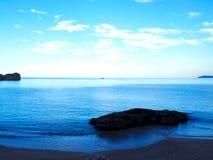 Strand på aftonen Arkivfoto