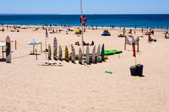 Strand på Atlanticet Ocean i Portugal Royaltyfri Fotografi