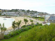 Strand på badorten royaltyfria bilder