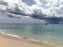 Strand på Barbados 5 Arkivbild