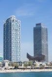 Strand på Barcelona spain Royaltyfria Bilder