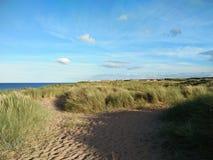 Strand på Blyth England Arkivfoto