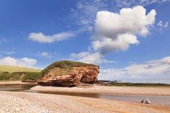 Strand på Budleigh Salterton Devon UK royaltyfria foton