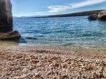 Strand på cresön royaltyfri foto