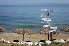 Strand på den Kasandra halvön i Grekland Royaltyfri Fotografi