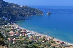 Strand på den Korfu ön i Grekland Royaltyfri Foto