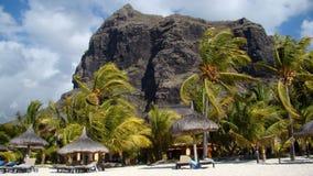 Strand på den Mauritius ön Arkivbilder