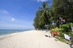 Strand på den Penang ön Arkivfoton