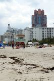 Strand på den södra stranden i Miami fotografering för bildbyråer