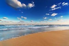 Strand på den sandiga stranden Fotografering för Bildbyråer
