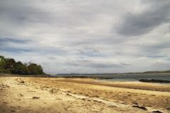 Strand på den Sheephaven fjärden, Co Donegal Irland arkivfoto