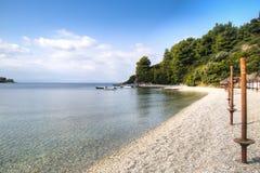 Strand på den Skopelos ön, Grekland Arkivbilder