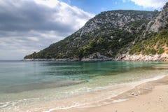 Strand på den Skopelos ön, Grekland Royaltyfri Foto