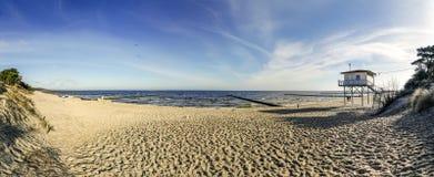 Strand på det baltiska havet i usedom Arkivfoto
