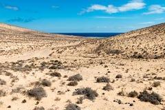 Strand på Fuerteventura Royaltyfri Foto