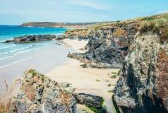 Strand på Gwithian arkivfoton