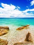 Strand på Halkidiki, Sithonia, Grekland arkivbilder