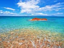 Strand på Halkidiki, Sithonia, Grekland Arkivfoton