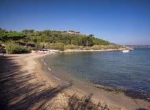 Strand på havet Arkivfoto