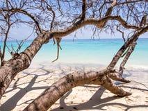 Strand på Koh Rock Island Royaltyfri Foto