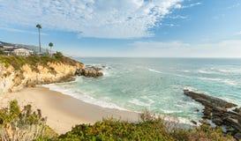Strand på Laguna Beach, Kalifornien Royaltyfria Foton