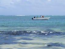 Strand på locket Malheureux, Mauritius Arkivbild