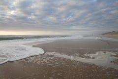 Strand på Mimizan Fotografering för Bildbyråer