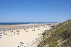Strand på Mimizan Royaltyfria Foton