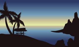 Strand på morgonlandskap Arkivfoto