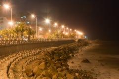 Strand på natten Royaltyfria Foton