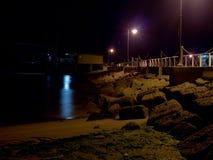 Strand på natten Arkivfoto