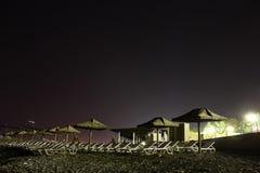 Strand på natten. Royaltyfria Bilder
