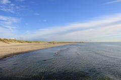 Strand på Nordsjönkust Royaltyfri Foto