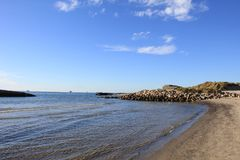 Strand på Nordsjönkust Arkivbild