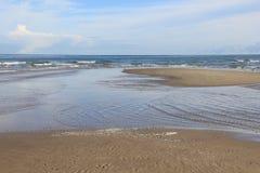 Strand på Nordsjönkust Fotografering för Bildbyråer
