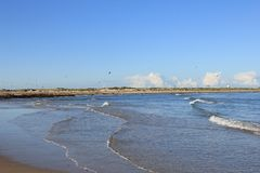 Strand på Nordsjönkust Arkivfoto
