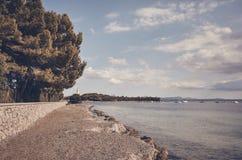 Strand på norrkusten av Mallorca, Spanien arkivfoto