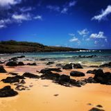 Strand på påskön Royaltyfri Foto
