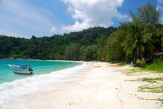 Strand på pulauen perhentian Malaysia Fotografering för Bildbyråer