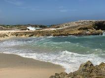 Strand på Punta Sur royaltyfri foto